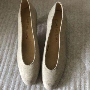 Stuart weizmen grey heel shoes